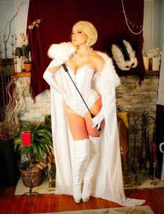 Character: Emma Frost (aka The White Queen) / From: MARVEL Comics 'The Uncanny X-Men' / Cosplayer: Jessie Lloyd (aka Cosplay Butterfly) / Photo: Jessie Lloyd (2014)