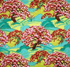 Cameo Spring's Beauty Scarlet Cotton Fabric by Amy Butler FQ | eBay