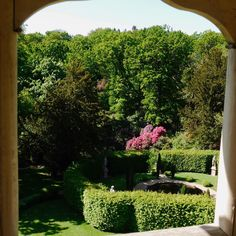 Window with a view! #castle #garden #view