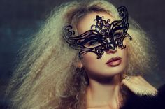 Love the hair and make-up! Especially the masquerade mask! Dark Beauty Magazine, Photoshoot Concept, Photoshoot Ideas, Crimped Hair, Editorial Hair, Beautiful Mask, Crown Hairstyles, Christen, Party Makeup