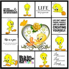Tweety Bird with Quotes | Tweety & I say.....Life - Polyvore                                                                                                                                                                                 More