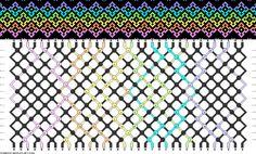 Muster # 91966, Streicher: 34 Zeilen: 14 Farben: 7