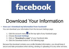 Have You Downloaded Your Facebook Information YET!!