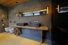 Chalet bathroom design http://trendyhomesk.blogspot.sk/2015/03/chalet-po-slovensky-chalupy.html?m=1