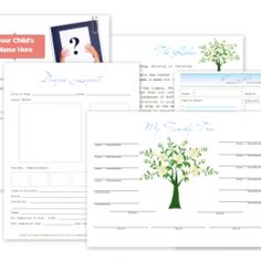 Craft, Project, Family Tree Printables