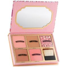 Limited Edition! Benefit Cosmetics Cheekathon blush & bronzer palette ($58) ❤ liked on Polyvore featuring beauty products, makeup, cheek makeup, blush, beauty, filler, no color, powder blush and benefit blush