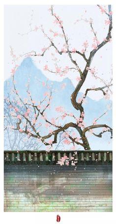 Stock Background, Art Background, Chinese Artwork, Flower Phone Wallpaper, Pretty Art, Asian Art, Doodle Art, Japanese Art, Beautiful Landscapes