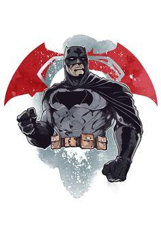 Batman V. Superman by LudoDRodriguez on DeviantArt Batman Vs Superman, Batman Y Robin, Superman Movies, Batman Comic Books, Comic Books Art, Comic Art, Spiderman, Batman Universe, Dc Universe