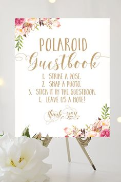 Polaroid Guestbook Sign 8 x 10 Printable by CharmingEndeavours
