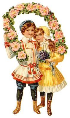 Vintage Floral Label Art Print Card
