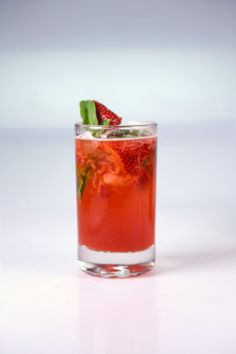Very Berry Basil Mojito by Clinton Kelly - strawberries, lime juice, strawberry simple syrup, black raspberry liqueur, white rum, basil, seltzer...simple syrup recipe - water, sugar, sliced strawberries