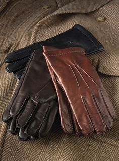 Cashmere Lined Nappa Leather Gloves For Men