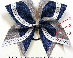 Brooklyn - Rhinestone/Glitter Cheer Bow - your choice of colors, Glitter Cheer Bows, Cheer Bow, Rhinestone Cheer Bows Bling Cheer Bows, Cute Cheer Bows, Cheer Mom, Making Hair Bows, Diy Hair Bows, Cheerleading Bows, Cheer Stunts, Glitter Heat Transfer Vinyl, Cheer Hair