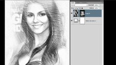 Photoshop drawing effect it shows how you get a normal picture & change it step by step to look like its been drawn Photoshop Effects, Photoshop Course, Photoshop Video, Learn Photoshop, Photoshop Photos, Adobe Photoshop, Photoshop Design, Photoshop Elements, Photoshop Cs5 Tutorials