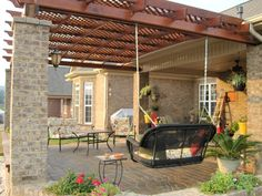 How to Build a Pergola Attached to the House | ... design and construction of pergolas a pergola is a type of gazebo it