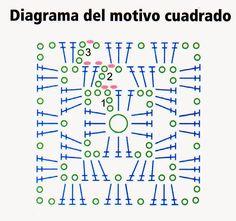 2 rectangulos en compose con un diseño original....cuadrados basicos y un escote en V.       MATERIALES: Lana semigorda (50% lana - 50% acr...