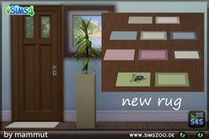 Blackys Sims 4 Zoo: Small rug by Mammut • Sims 4 Downloads