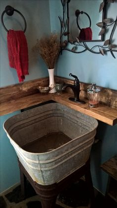 Exceptional Washtub Sink In Our Guest Bath Https://www.etsy.com/
