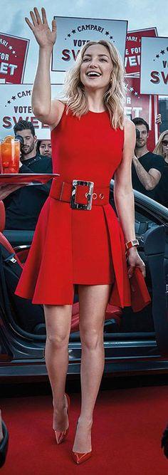 Kate Hudson wearing Versace for the 2016 Campari calendar