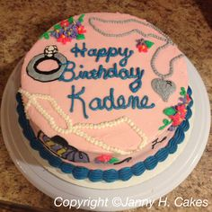 Girlie cake www.facebook.com/jannyh.cakes