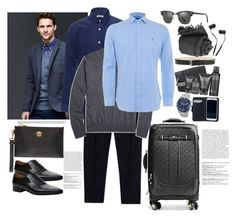 """""""Bez naslova #113"""" by theoryoffashion ❤ liked on Polyvore featuring Gap, Clinique, Gucci, Dolce&Gabbana, Versace, Browns, Faliero Sarti, Brooks Brothers, Ray-Ban and Breitling"""
