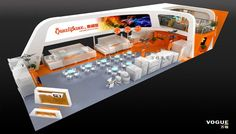 Exhibition design of baker fair Exhibition Stands, Exhibition Booth, Double Deck, Booth Ideas, Stalls, Plant, Design, Stand Design, Product Display