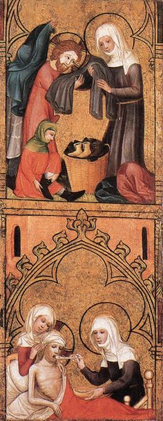 Saint Elizabeth Clothes the Poor and Tends to the Sick by an Unknown German Master, c. 1390s