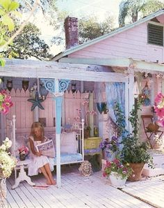 shabby chic fairy tale.. key west house for Stacey my neighbor who will move there too one day.