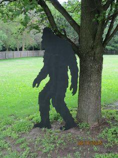 Bigfoot Big Foot Shadow Bigfoot Wood Silhouette by chardoman