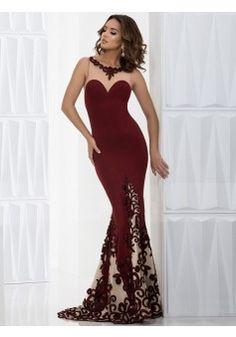 Trumpet/Mermaid Scoop Floor-length Chiffon Prom Dresses/Evening Dresses #SP5007
