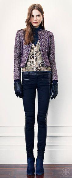 Tory Burch, Tweed 'Kennedy' Jacket & 'Harlow' Biker Pants, Fall 2013