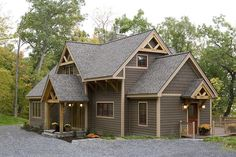 Timber framed homes. I love, love, love this!! The color combo and style is absolutely perfect.
