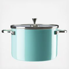 For versatile one-dish cooking, serving, and storing, kate spade new york's stockpot is available in three vibrant colors. For extra ease when cooking, check contents with the see-through tempered glass lid. Features: Non-stick interior Enamel & steel with tempered glass lid Hand wash