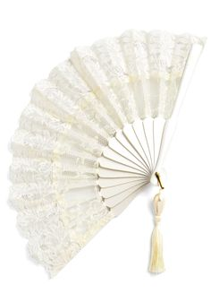 Carry a fan instead of a bouquet! Or have all your bridesmaids hold them. So flippin' chic. Lace Enchantment Fanfrom @ModCloth http://www.modcloth.com/shop/hairaccessories/lace-enchantment-fan