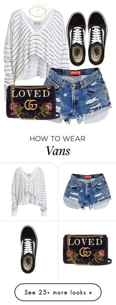 """""""Casual"""" by kybeauty1 on Polyvore featuring Wildfox, Vans, Gucci and Mudd"""