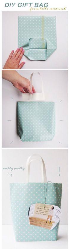 Einfache Geschenketüte