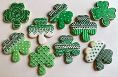 St. Patrick's Day decorated sugar cookies Davids Cookies, St Patrick, Sugar Cookies, Desserts, Food, Decor, Tailgate Desserts, Deserts, Decoration