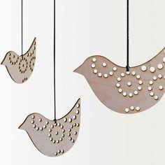 Hanna Francis riiput bird decoration, large http://www.hannafrancis.com/signature-products/christmas-home/riiput/riiput-small-bird.html