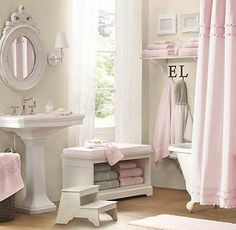 1000 images about grey and pink bathroom on pinterest ruffle shower curtains ruffled shower. Black Bedroom Furniture Sets. Home Design Ideas