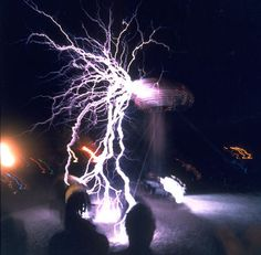 tesla coil. Yeah. I'm a geek and proud of it.