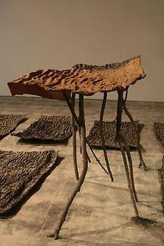 Giuseppe Penone - Lo spazio della scultura (Pelle di cedro) [The space of  sculpture (Skin of Cedar), 2001 Bronze and leather