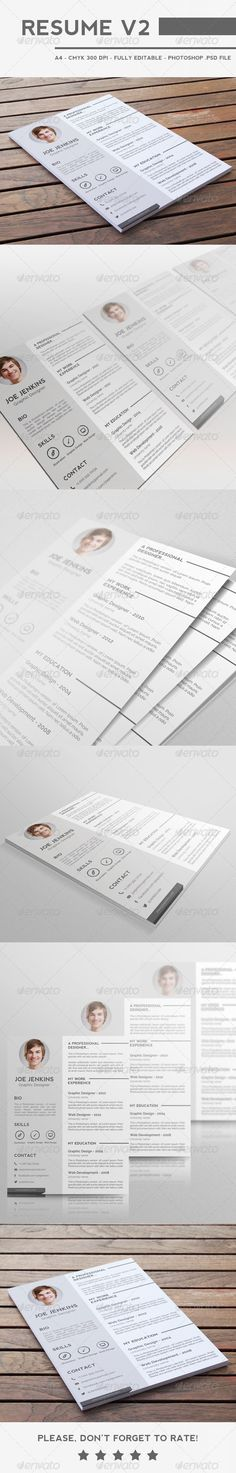 4 colorful textured print resumes fonts icons and the used