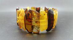 26,7 grams Big Genuine Natural Baltic Amber Mix Bracelet No Enhancement
