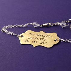 Like a Lady Custom Quote Bracelet - Spiffing Jewelry