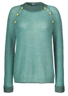 Gustav Mohair Sweater 25404 Knit With Lurex - jade green