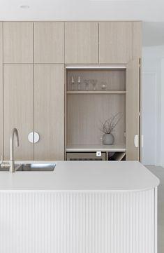 Timber Kitchen, Kitchen Benches, Kitchen Doors, Kitchen Cabinetry, Kitchen Flooring, Kitchen White, Cabinets, Kitchen Door Designs, Piece A Vivre
