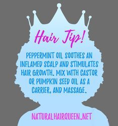 Have you tried peppermint oil on your natural hair? - Have you tried peppermint oil on your natural hair? – Natural hair, hair care, hair tip, inspirat - Natural Hair Care Tips, Be Natural, Natural Hair Growth, Natural Hair Journey, Natural Hair Styles, Natural Oils, Hair Growth Tips, Sisterlocks, Locs