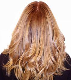 Un blond cuivré brillant