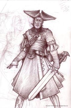 Half-Continent Scetchbook: a swordist by Fouracres on DeviantArt