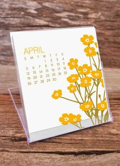 2015 Calendar / Desk / Floral